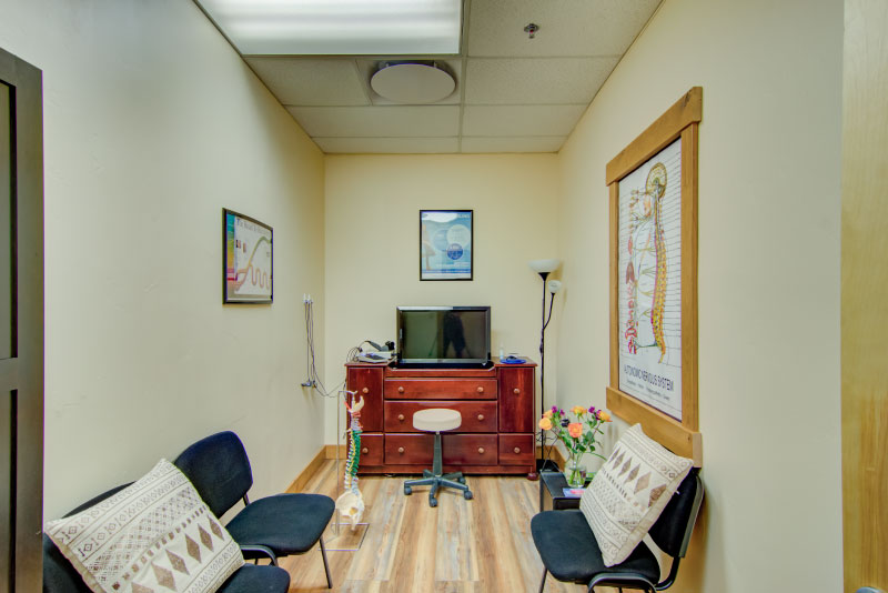 patient waiting area in doctor office