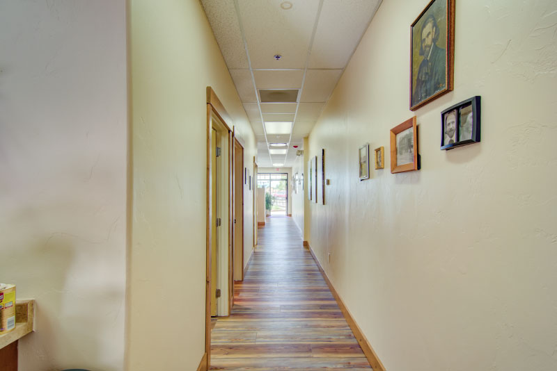 hall way in office
